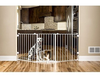 Carlson 76 Inch Wide Flexi Configurable Walk Through Pet Gate