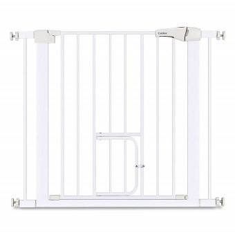 Cumbor Auto Close Safety Baby Gate with Pet Door