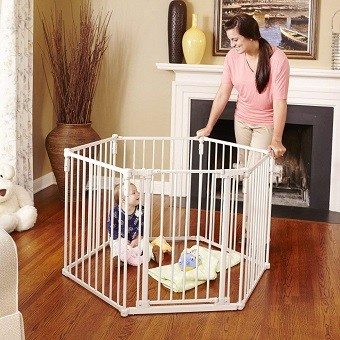 North States Superyard Metal Baby Gate
