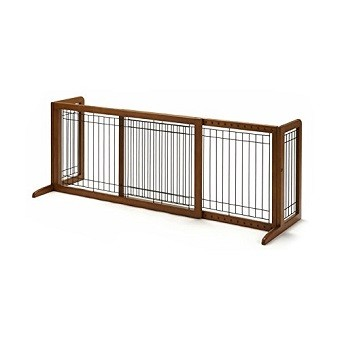 Richell Wood Freestanding Gate