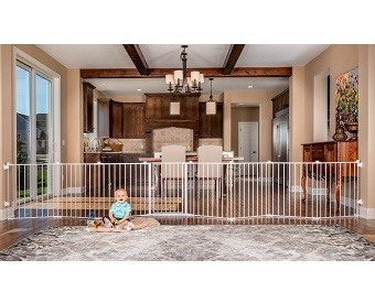 Regalo 192-Inch Super Wide Adjustable Gate and Play Yard